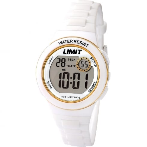 Limit Active Kids Digital Chronograph White Resin Strap Children Watch 5581