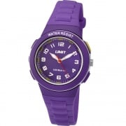 Limit Active White Dial Purple Plastic Strap Girls Watch 5594