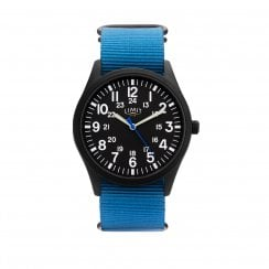 Limit Black Dial Blue Nylon Fabric Strap Gents Watch 5724
