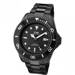 Limit Black Dial IP Black Stainless Steel Bracelet Mens Watch 5517