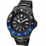 Limit Black Dial IP Black Stainless Steel Bracelet Mens Watch 5519