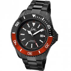 Limit Black Dial IP Black Stainless Steel Bracelet Mens Watch 5520