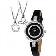 Limit  black dial leather strap Ladies watch 6013G