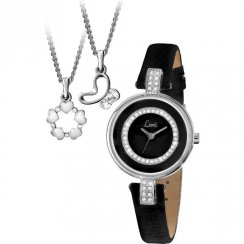 Limit black dial leather strap Ladies watch Gift Set 6013G