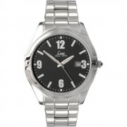 Limit  black dial stainless steel bracelet Mens watch 5364