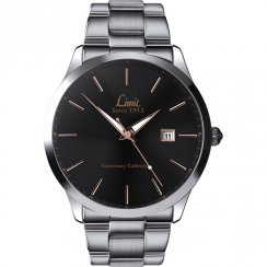 Limit  black dial stainless steel bracelet Mens watch 5891