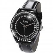 Limit  black dial upper leather strap Ladies watch 6832