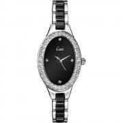 Limit Ceramic black dial stainless steel bracelet Ladies watch 6945