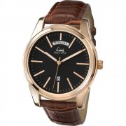 Limit Classic Black Dial Brown Strap Gents Watch 5484