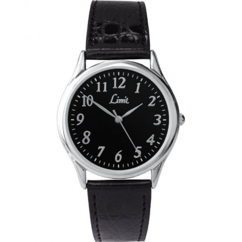 Limit Classic black dial upper leather strap Mens watch 5342