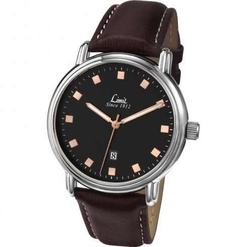 Limit Classic Black Dial upper leather strap Mens watch 5481