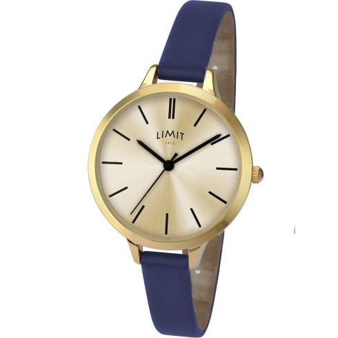 Limit Classic Champagne Dial Blue Strap Ladies Watch 6223