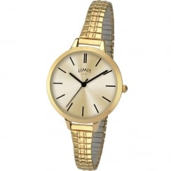 Limit Classic Champagne Dial Gold Expander Ladies Watch 6231