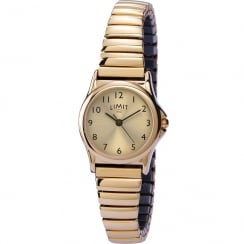 Limit Classic Champagne Dial Gold Expander Ladies Watch 6986