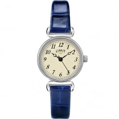 Limit Classic Cream Dial Blue Leather Strap Ladies Watch 6146