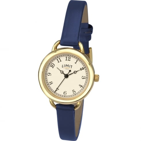Limit Classic Cream Dial Blue Strap Ladies Watch 6232