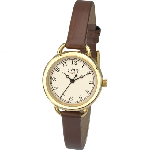 Limit Classic Cream Dial Brown Strap Ladies Watch 6233