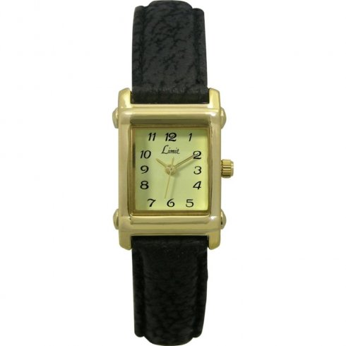 Limit Classic cream dial upper leather strap Ladies watch 6543