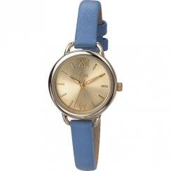 Limit Classic Gold Dial Light Blue Strap Ladies Watch 6099