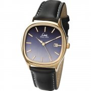 Limit Classic Gradient black dial upper leather strap Mens watch 5498