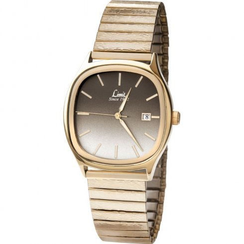 Limit Classic Gradient Bronze Dial Gold Expander Gents Watch 5500
