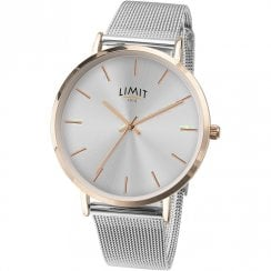 Limit Classic Light Grey Dial Mesh Strap Unisex Watch 6309