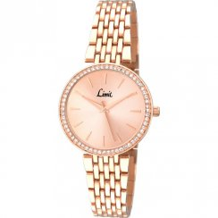 Limit Classic Rose Gold Dial Stainless Steel Bracelet Ladies Watch 6137