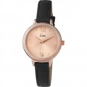 Limit Classic rose gold dial upper leather strap Ladies watch 6091
