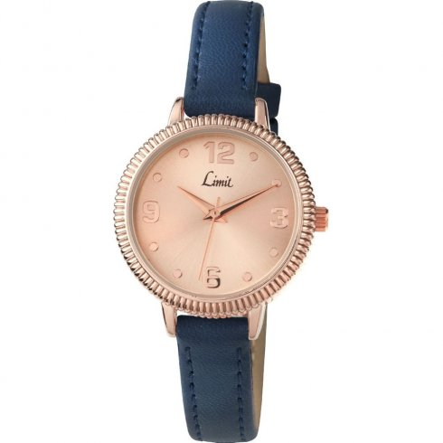 Limit Classic rose gold dial upper leather strap Ladies watch 6092