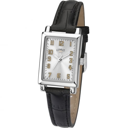 Limit Classic Silver Dial Black Leather Upper Strap Ladies Watch 6215