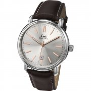 Limit Classic silver dial upper leather strap Mens watch 5480