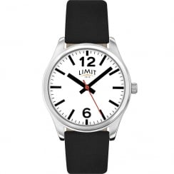 Limit Classic White Dial Black Leather Strap Ladies Watch 6181