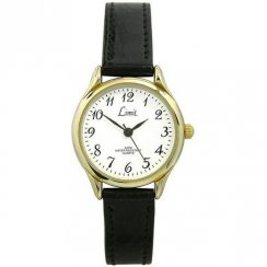 Limit Classic White Dial Black polyurethane Strap Ladies Watch 6141