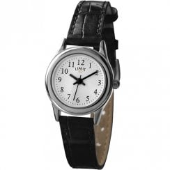 Limit Classic White Dial Black PU Strap Ladies Watch 6741