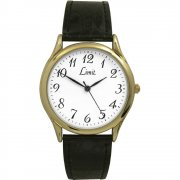 Limit Classic White Dial Black Upper Leather Strap Gents Watch 5066