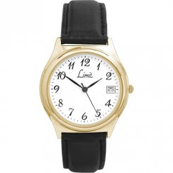 Limit Classic White Dial Black Upper Leather Strap Mens Watch 5122