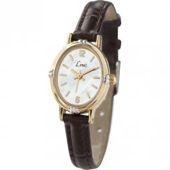 Limit Classic White Dial Brown PU Strap Ladies Watch 6980