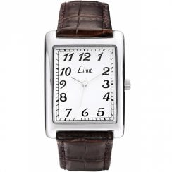 Limit Classic White Dial Brown Strap Gents Watch 5330X