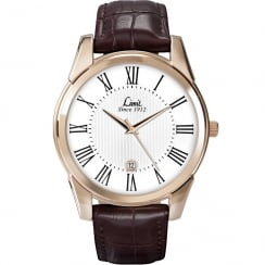 Limit Classic White Dial Brown Strap Gents Watch 5453