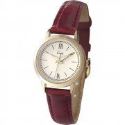 Limit Classic White Dial Burgundy Strap Ladies Watch 6978