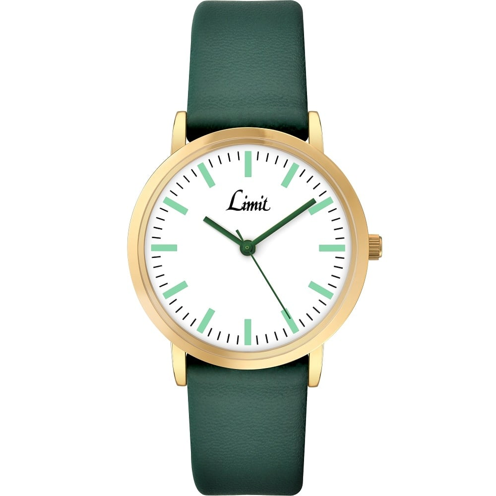 limit classic white green leather
