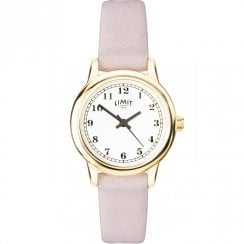 Limit Classic White Dial Light Lilac Strap Ladies Watch 60003