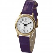 Limit Classic White Dial Purple Strap Ladies Watch 6982