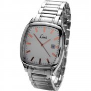Limit Classic white dial stainless steel bracelet Mens watch 5421