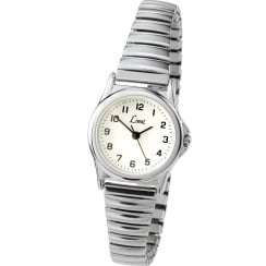 Limit Classic White Dial Stainless Steel Expander Ladies Watch 6999