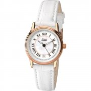 Limit Classic white dial upper leather strap Ladies watch 6086