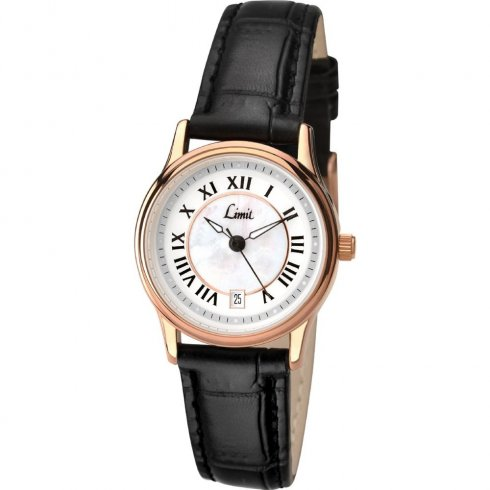 Limit Classic white dial upper leather strap Ladies watch 6087