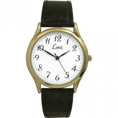 Limit Classic white dial upper leather strap Mens watch 5066