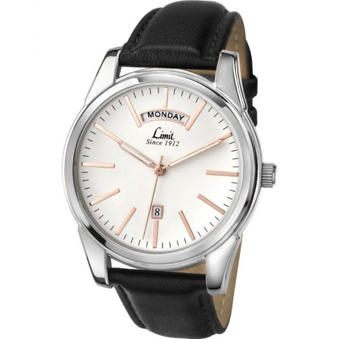 Limit Classic white dial upper leather strap Mens watch 5483