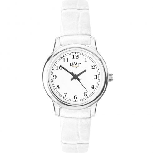 Limit Classic White Dial White Strap Ladies Watch 60001